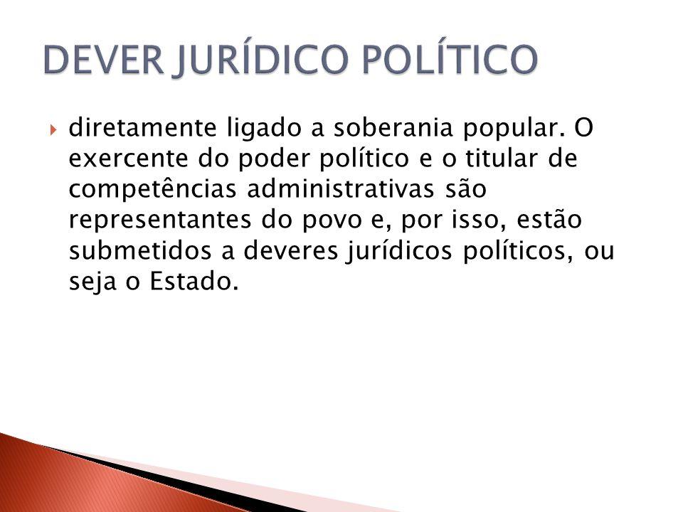DEVER JURÍDICO POLÍTICO