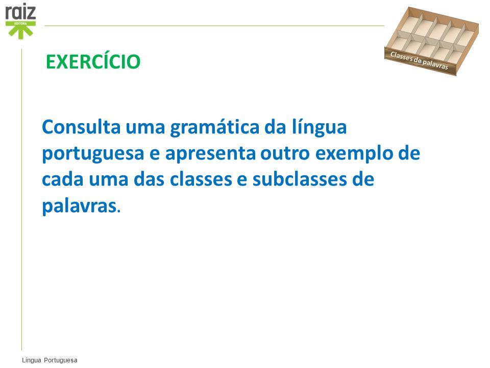 Classes de palavras EXERCÍCIO.