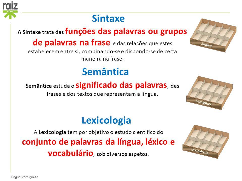 Sintaxe Semântica Lexicologia