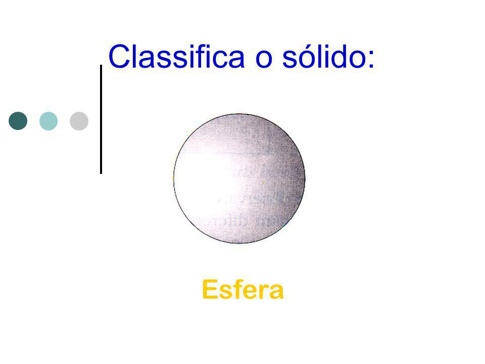 Classifica o sólido: Esfera