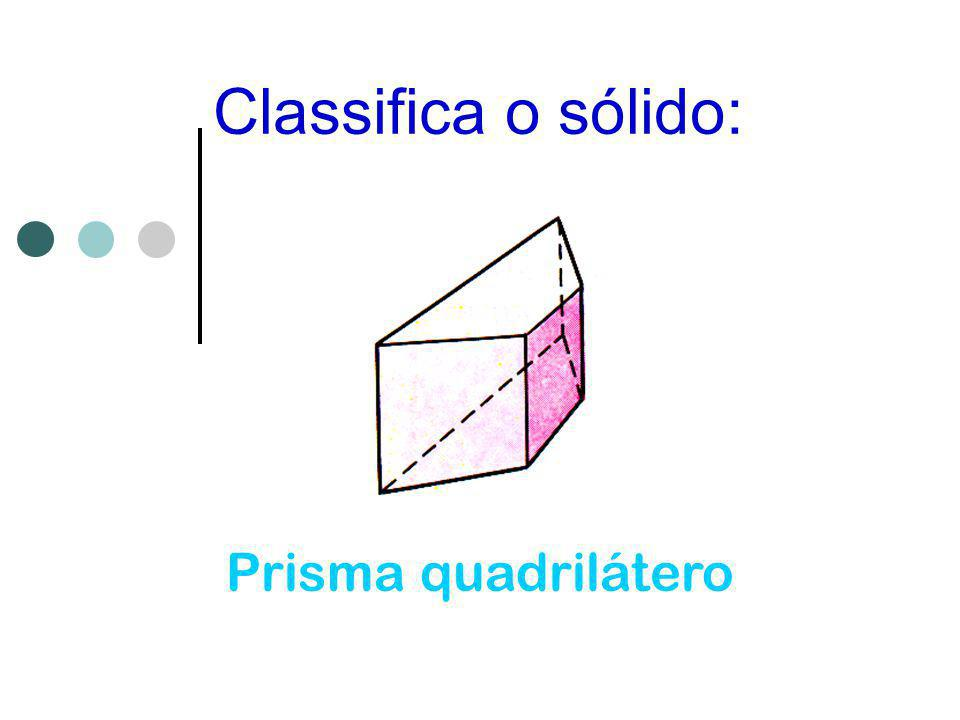 Classifica o sólido: Prisma quadrilátero