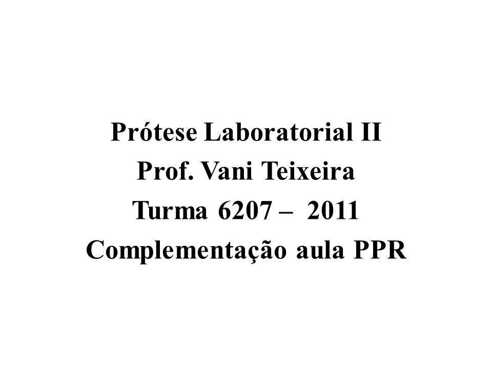 Prótese Laboratorial II Complementação aula PPR