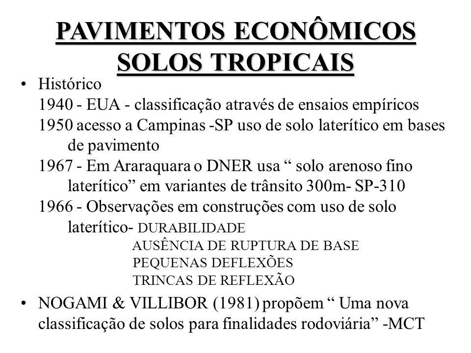 PAVIMENTOS ECONÔMICOS SOLOS TROPICAIS