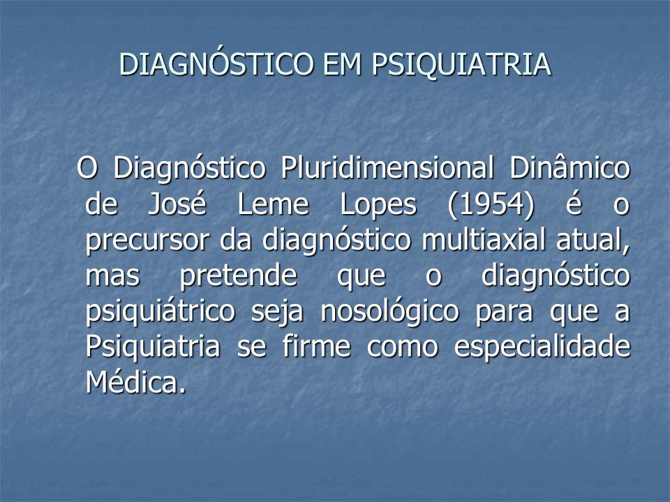 DIAGNÓSTICO EM PSIQUIATRIA