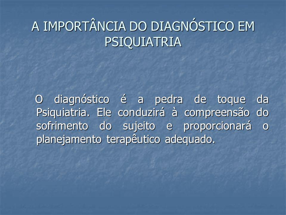 A IMPORTÂNCIA DO DIAGNÓSTICO EM PSIQUIATRIA