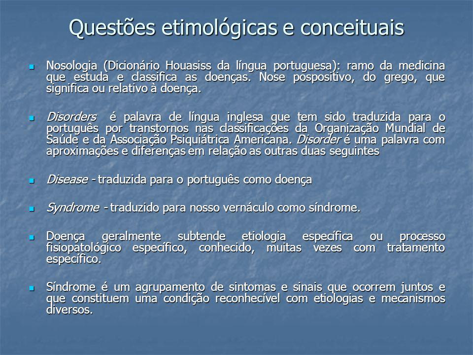 Questões etimológicas e conceituais