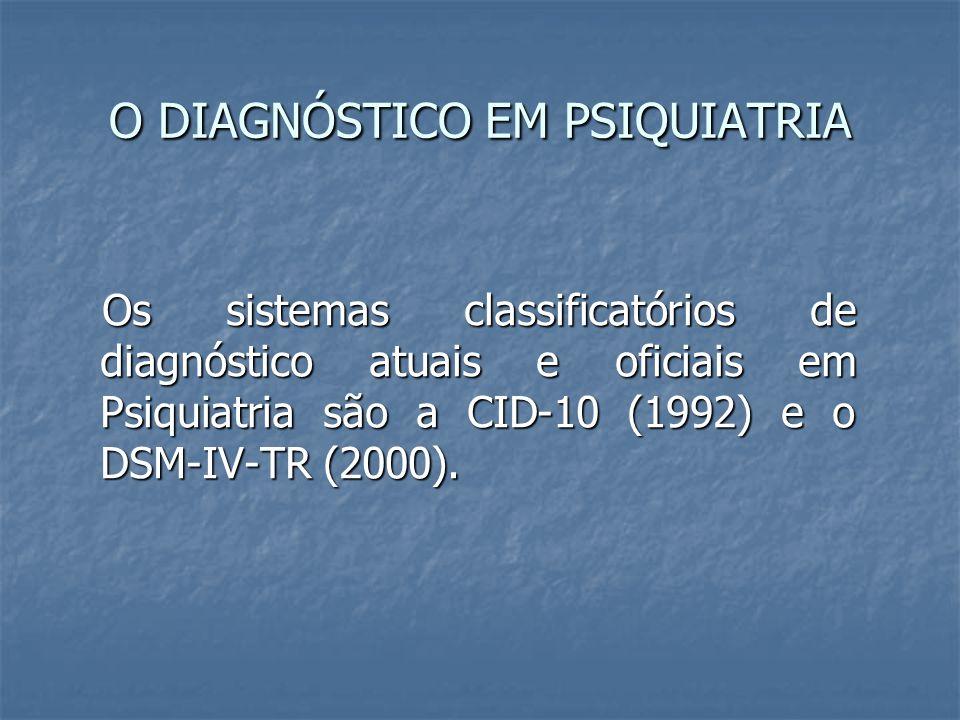O DIAGNÓSTICO EM PSIQUIATRIA