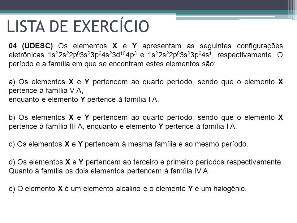 LISTA DE EXERCÍCIO