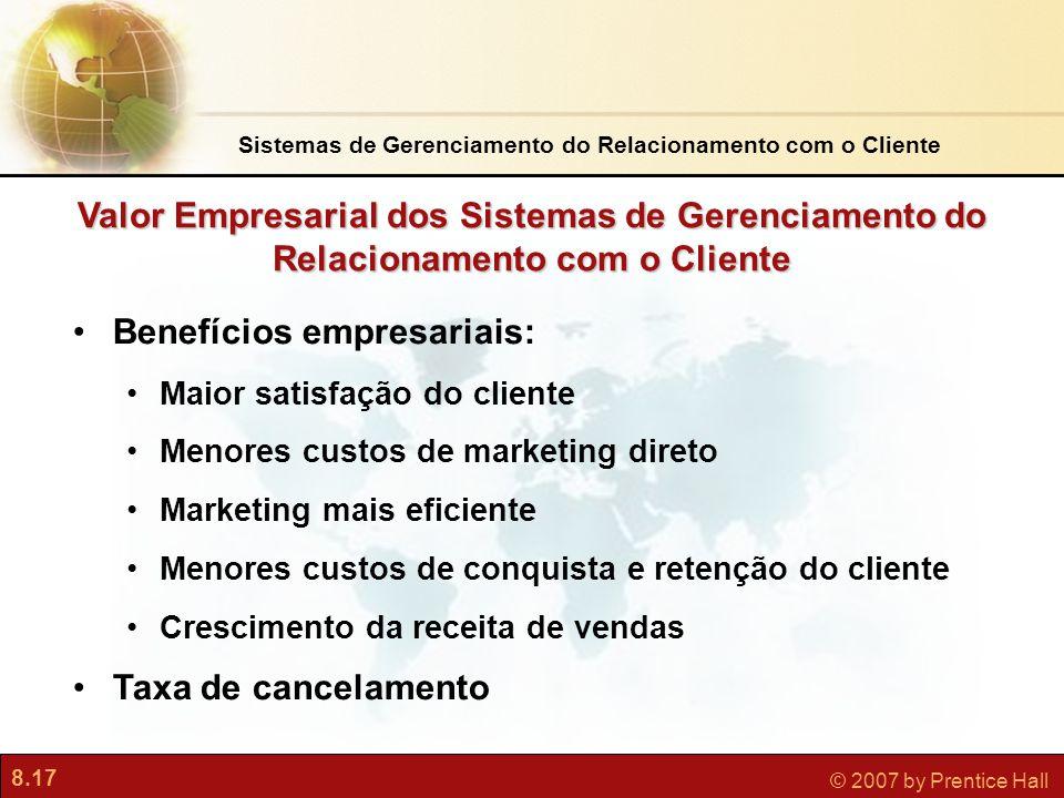 Sistemas de Gerenciamento do Relacionamento com o Cliente