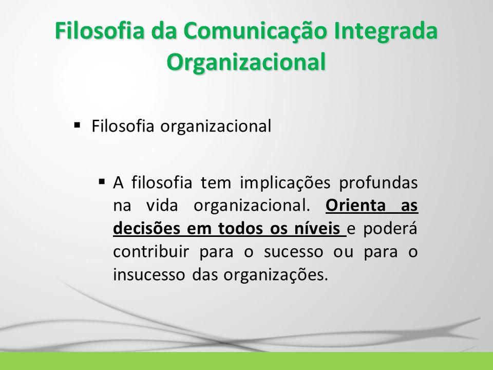 Filosofia da Comunicação Integrada Organizacional
