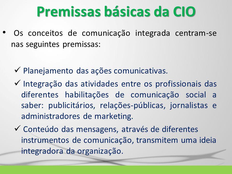 Premissas básicas da CIO