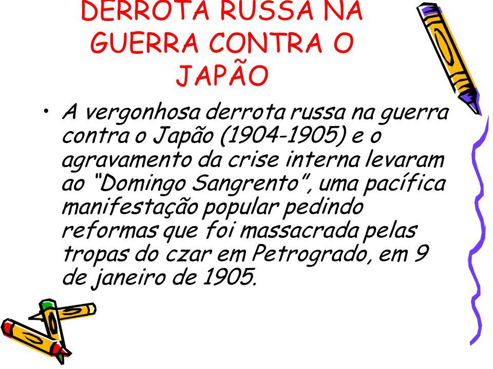 DERROTA RUSSA NA GUERRA CONTRA O JAPÃO