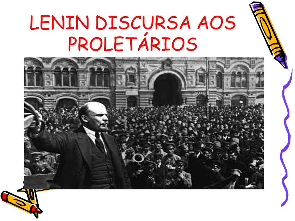 LENIN DISCURSA AOS PROLETÁRIOS