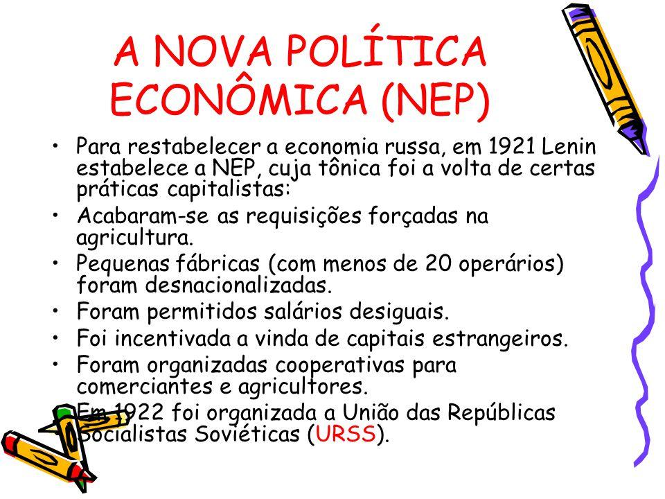 A NOVA POLÍTICA ECONÔMICA (NEP)