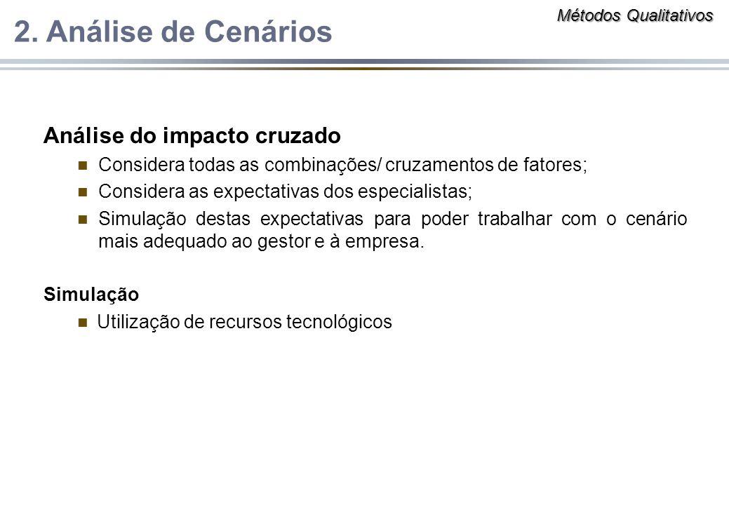 2. Análise de Cenários Análise do impacto cruzado