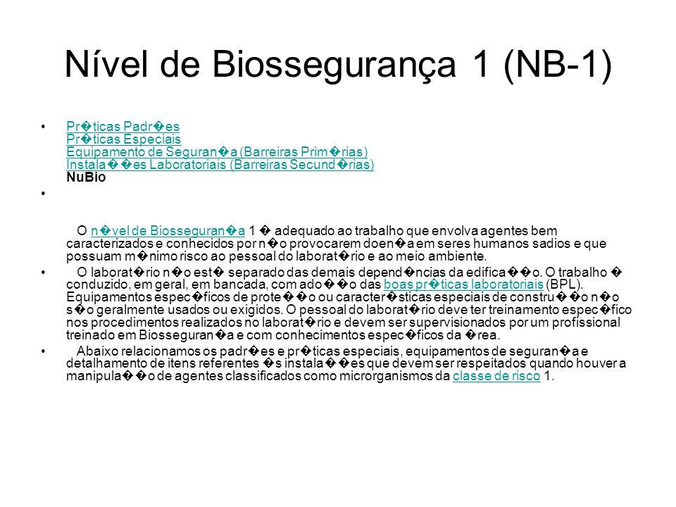 Nível de Biossegurança 1 (NB-1)