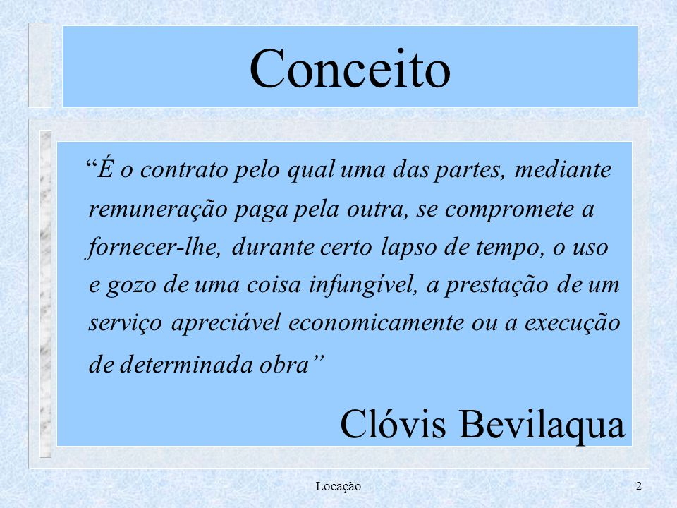 Conceito Clóvis Bevilaqua