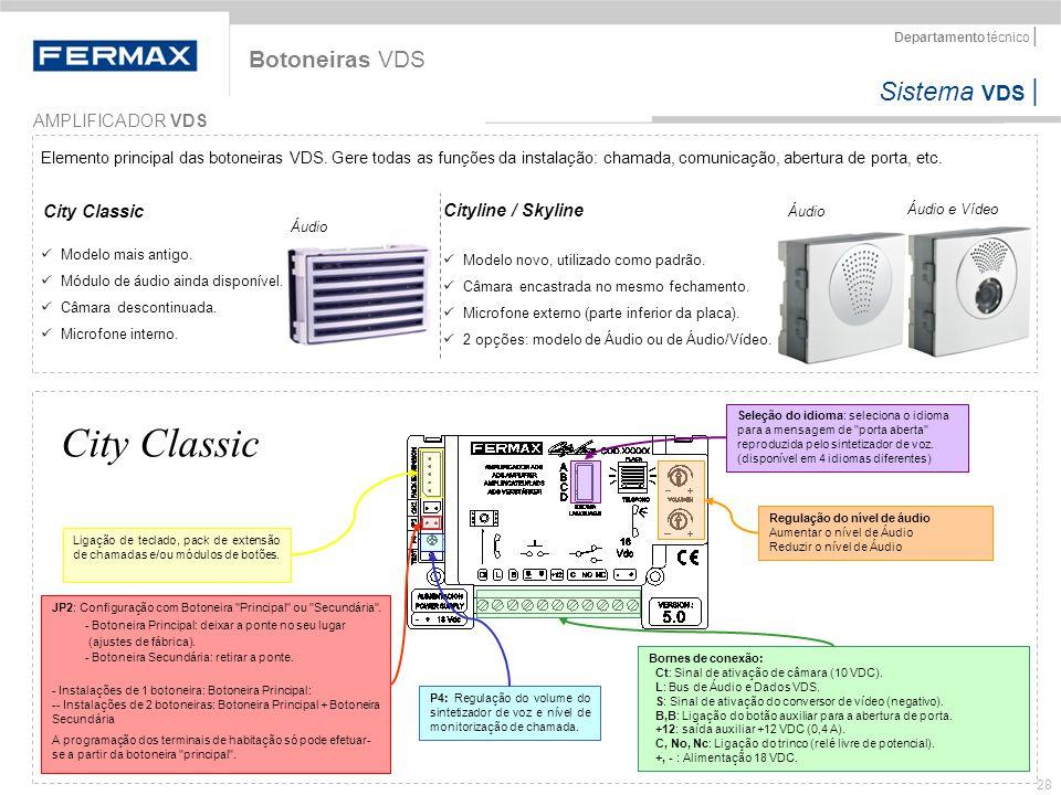 City Classic Botoneiras VDS AMPLIFICADOR VDS City Classic