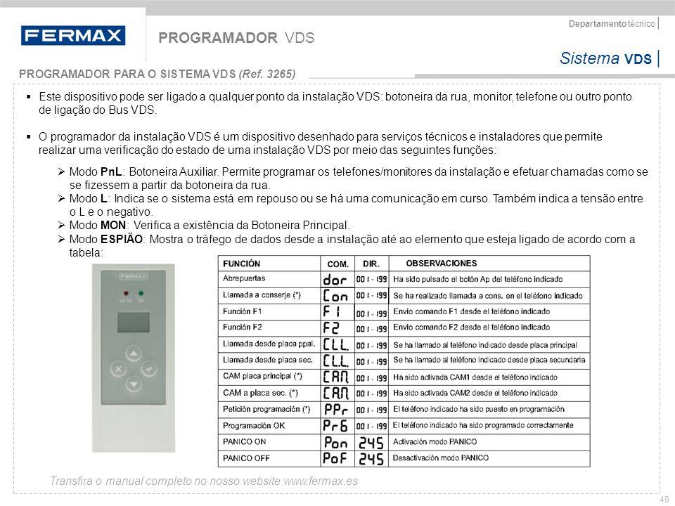 PROGRAMADOR VDS PROGRAMADOR PARA O SISTEMA VDS (Ref. 3265)