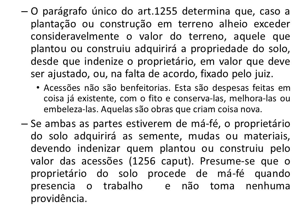 O parágrafo único do art