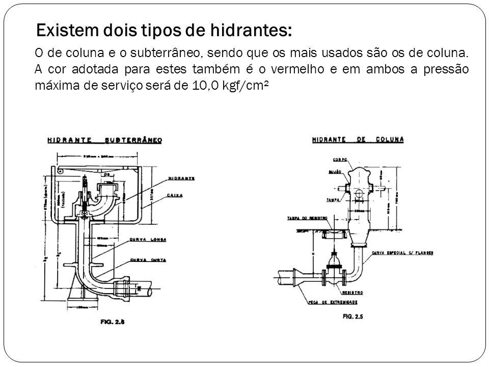 Existem dois tipos de hidrantes:
