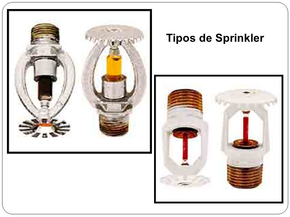 Tipos de Sprinkler