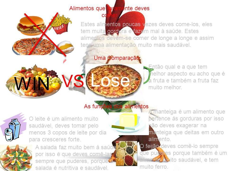 Alimentos que raramente deves comer
