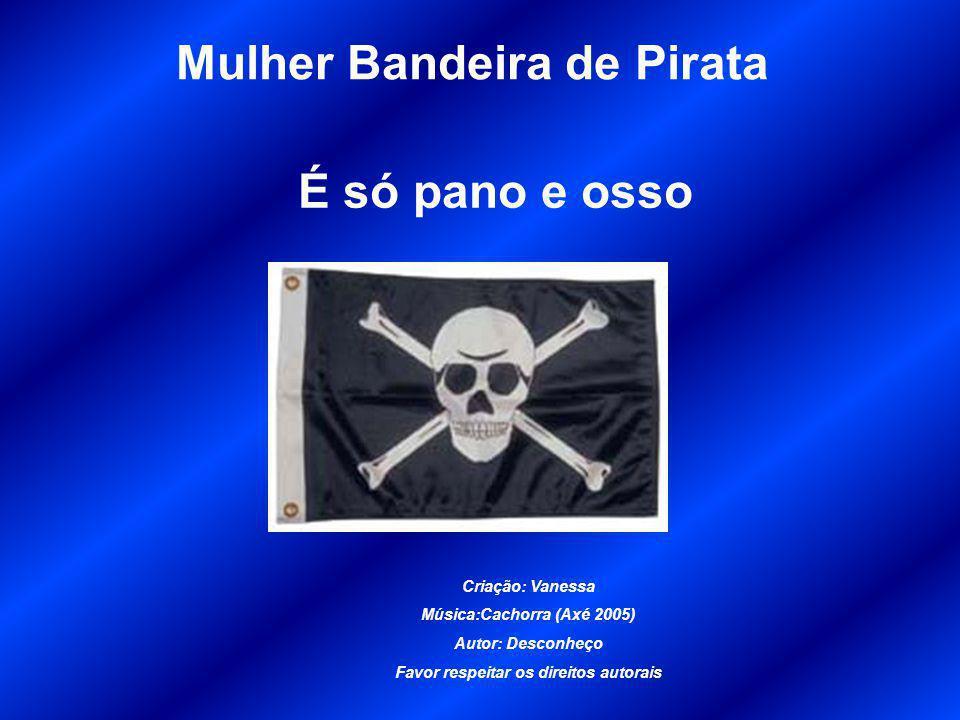 Mulher Bandeira de Pirata É só pano e osso