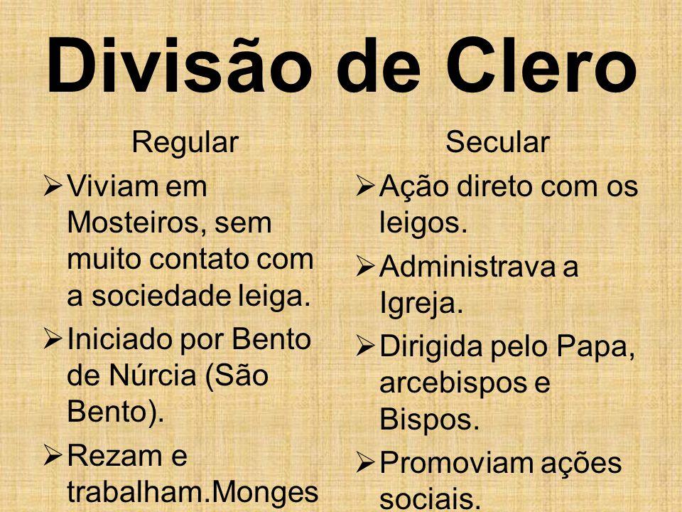Divisão de Clero Regular