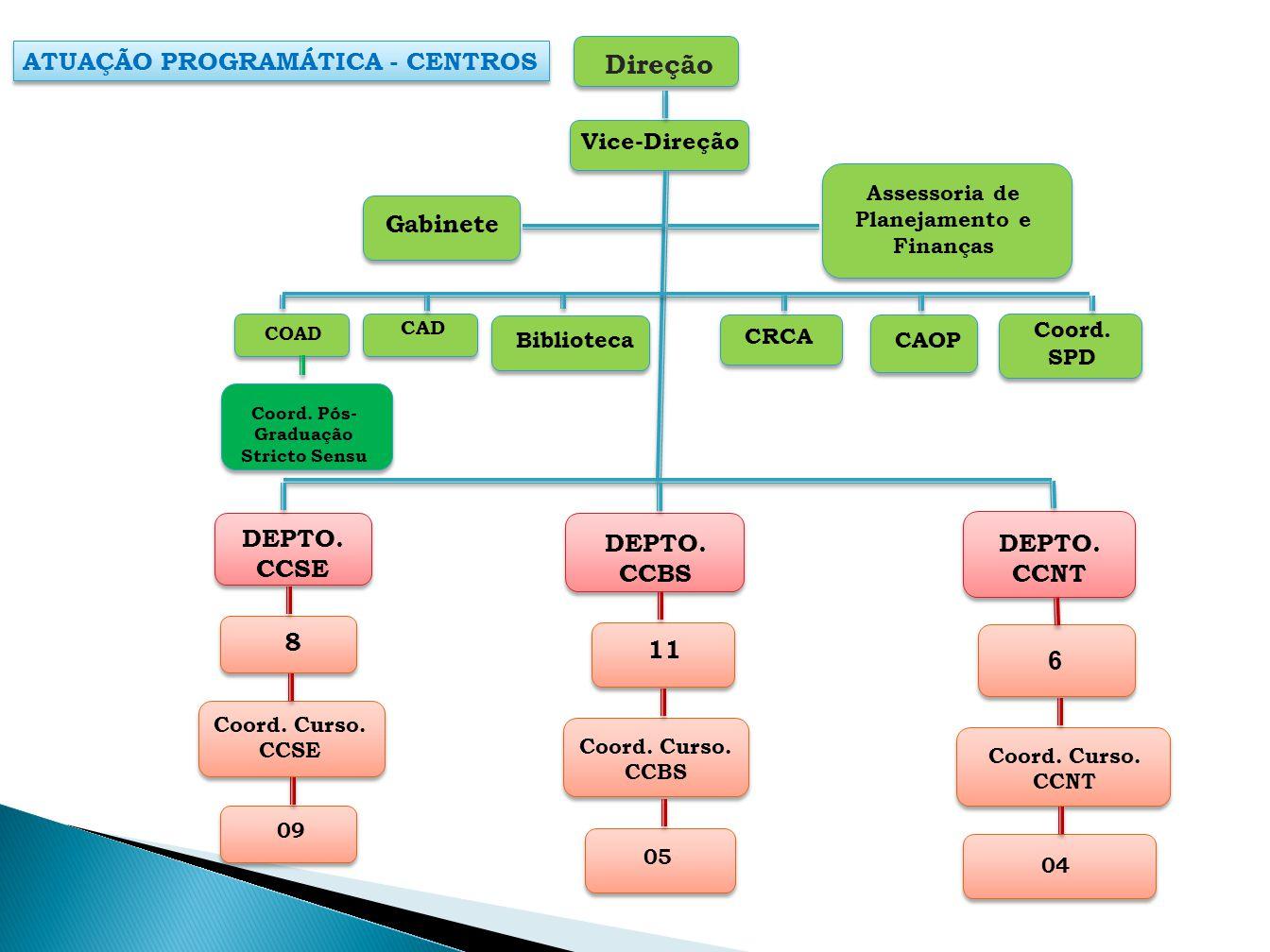Direção ATUAÇÃO PROGRAMÁTICA - CENTROS DEPTO. CCSE CCBS CCNT 8 11 6
