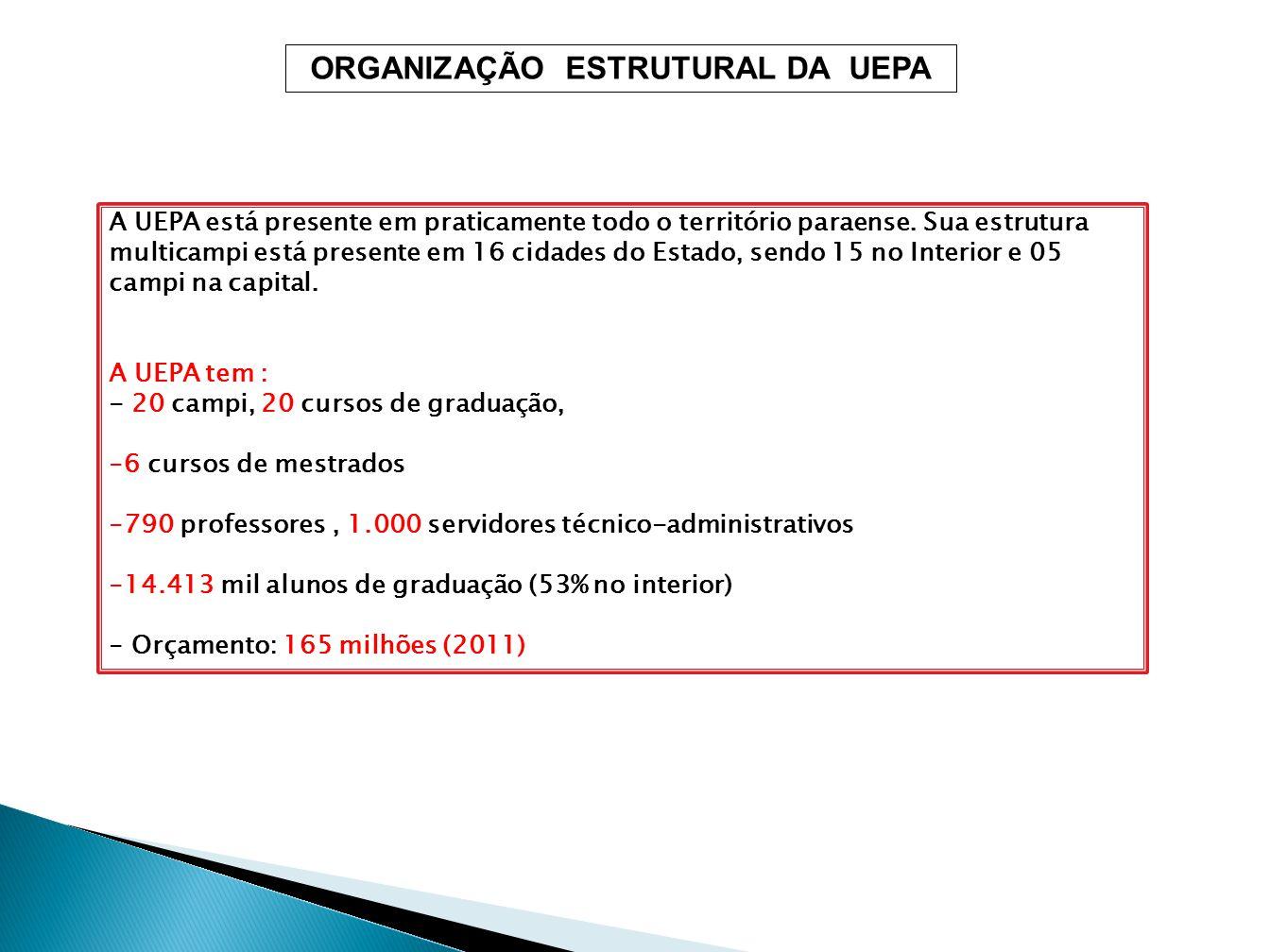 ORGANIZAÇÃO ESTRUTURAL DA UEPA