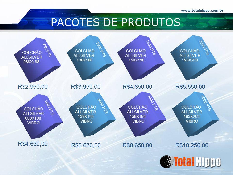 PACOTES DE PRODUTOS R$2.950,00 R$3.950,00 R$4.650,00 R$5.550,00