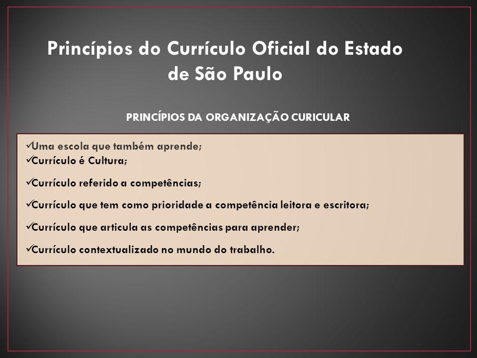 Princípios do Currículo Oficial do Estado de São Paulo