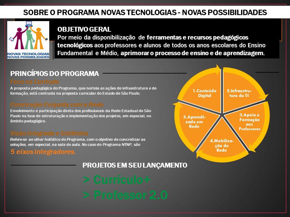 SOBRE O PROGRAMA NOVAS TECNOLOGIAS - NOVAS POSSIBILIDADES