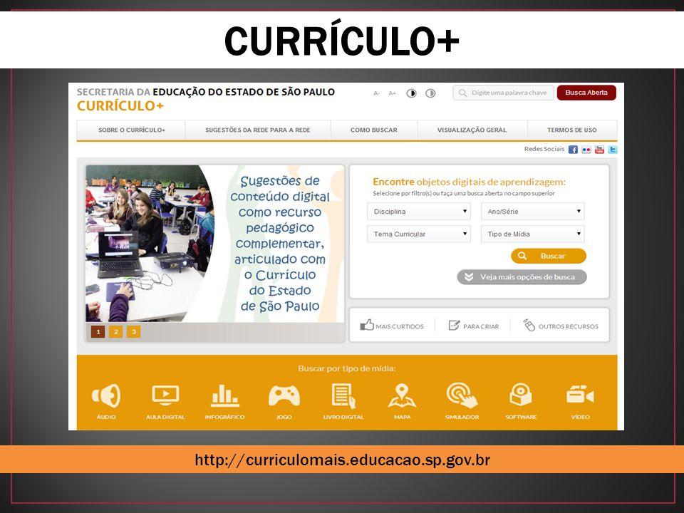 CURRÍCULO+ http://curriculomais.educacao.sp.gov.br