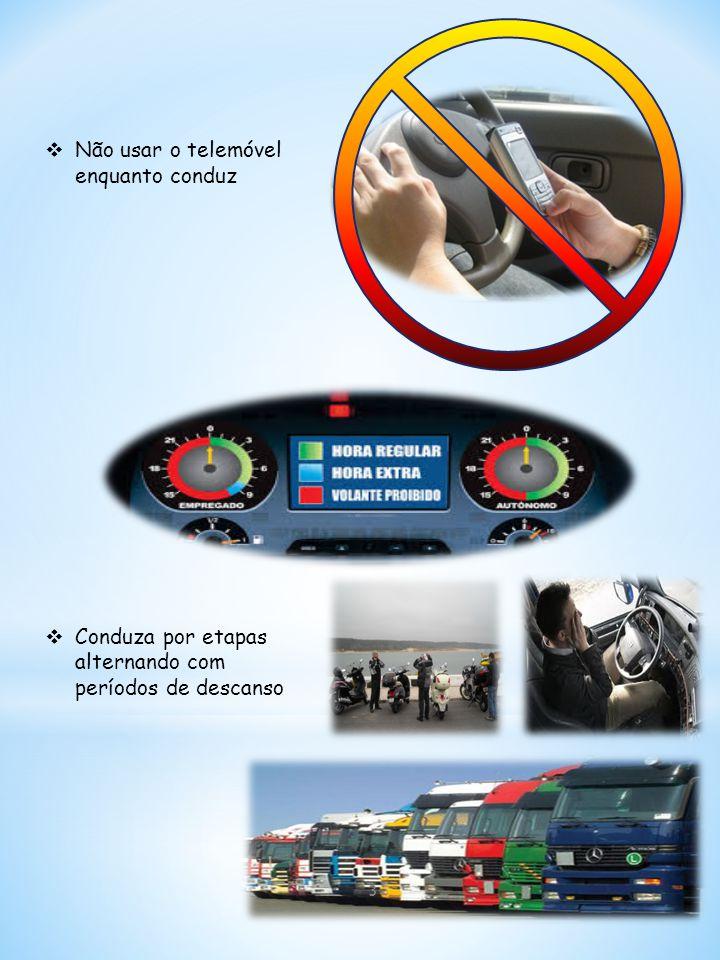 Não usar o telemóvel enquanto conduz