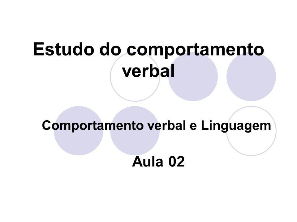 Estudo do comportamento verbal