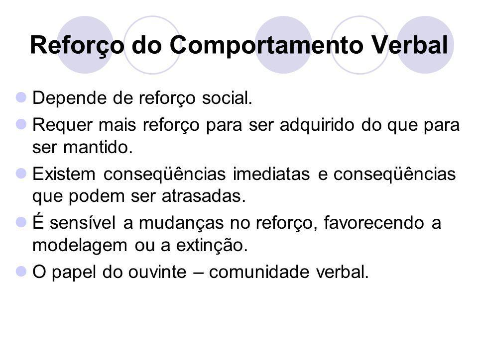 Reforço do Comportamento Verbal