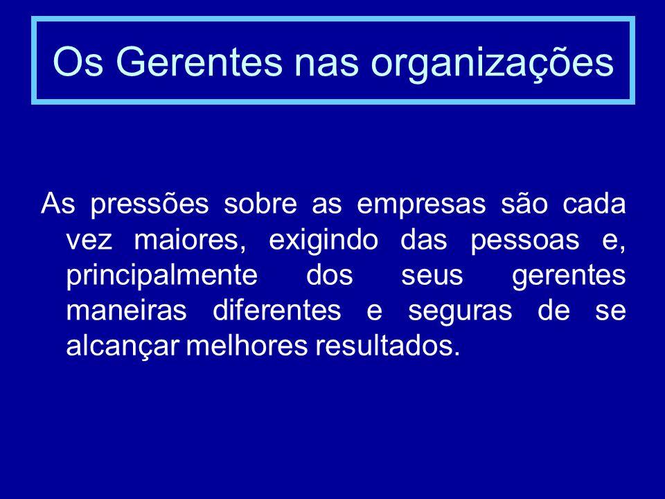 Os Gerentes nas organizações