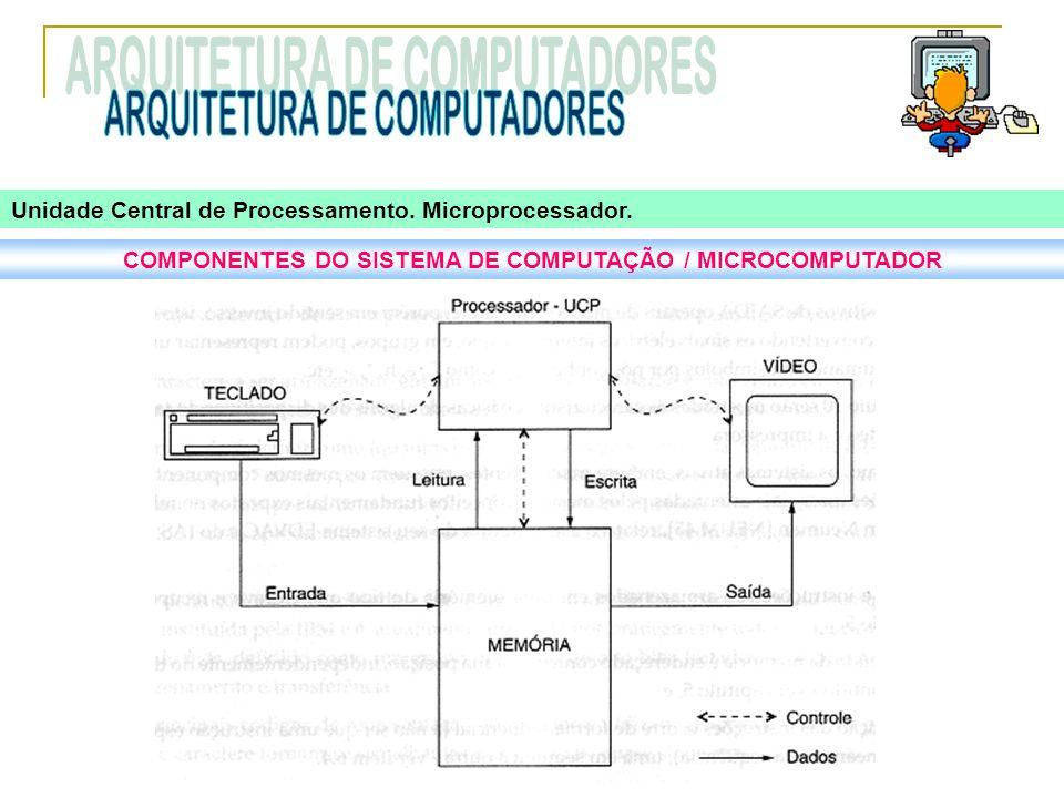 COMPONENTES DO SISTEMA DE COMPUTAÇÃO / MICROCOMPUTADOR