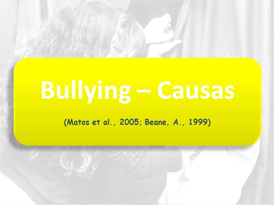 Bullying – Causas (Matos et al., 2005; Beane, A., 1999)