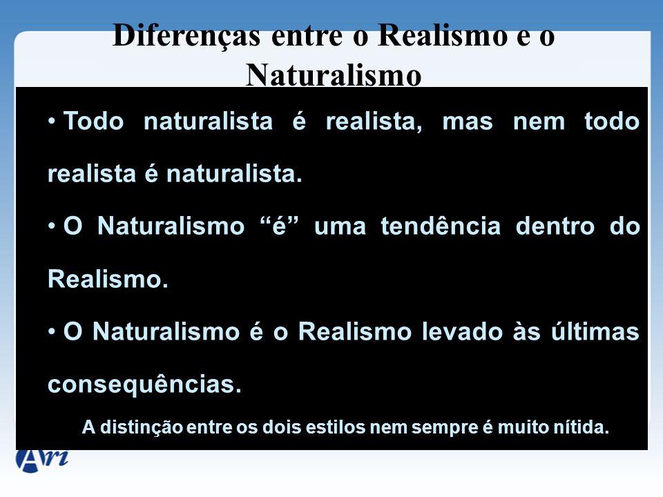 Diferenças entre o Realismo e o Naturalismo