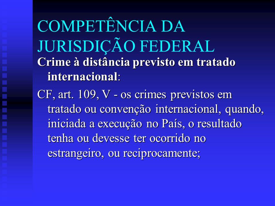 COMPETÊNCIA DA JURISDIÇÃO FEDERAL