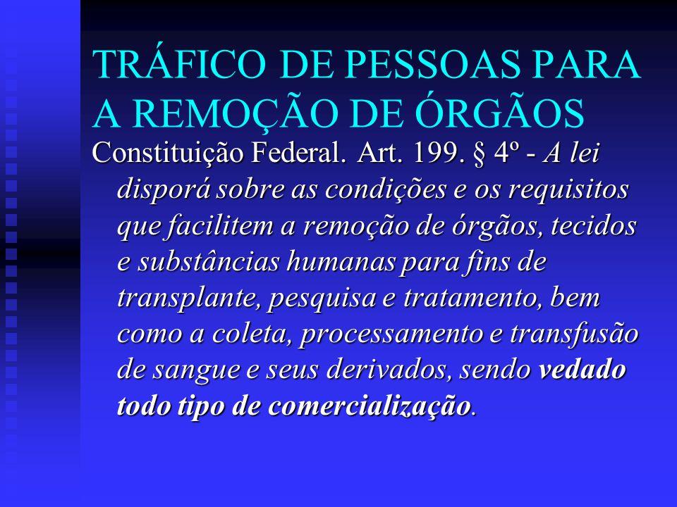 TRÁFICO DE PESSOAS PARA A REMOÇÃO DE ÓRGÃOS