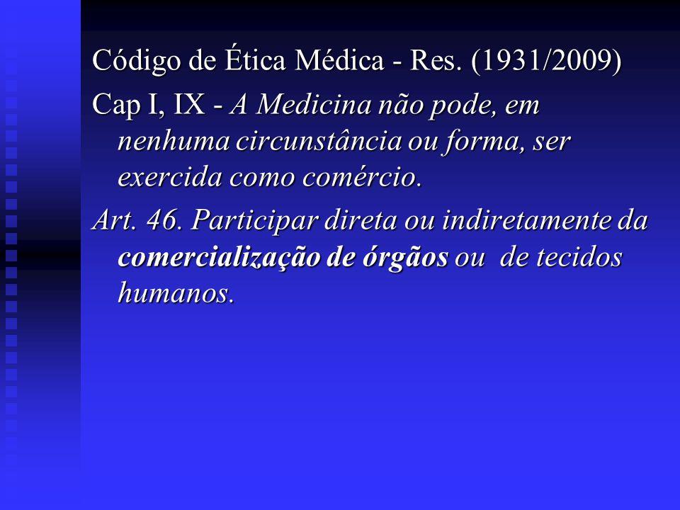 Código de Ética Médica - Res. (1931/2009)