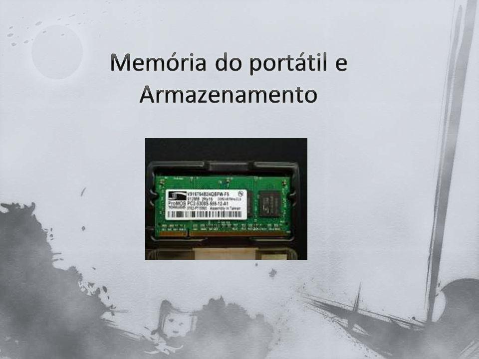 Memória do portátil e Armazenamento