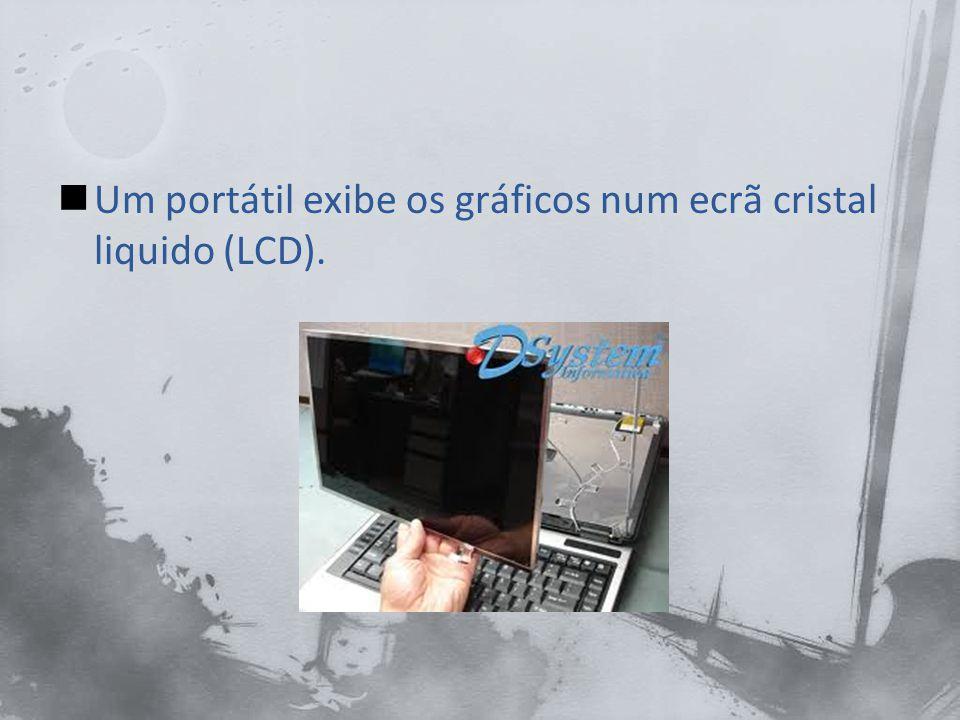 Um portátil exibe os gráficos num ecrã cristal liquido (LCD).