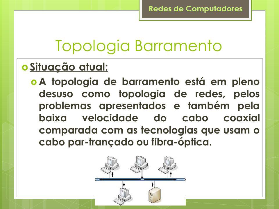 Topologia Barramento Situação atual: