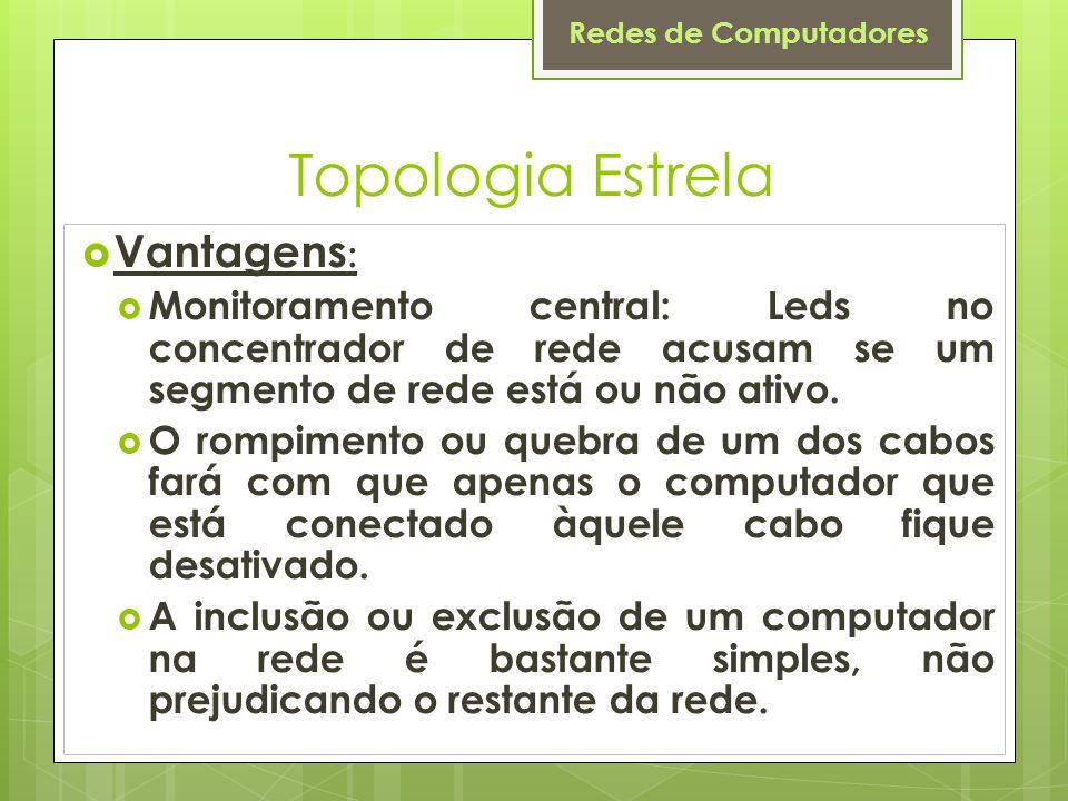 Topologia Estrela Vantagens: