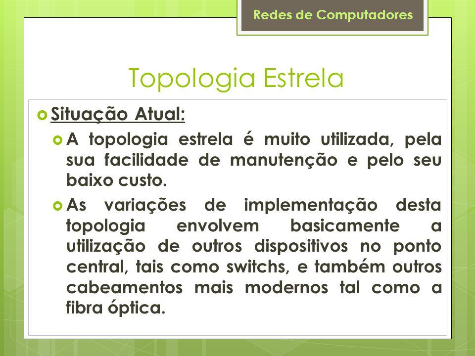 Topologia Estrela Situação Atual: